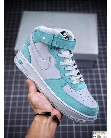 Air Jordan 1 Mid AJ Tiffany Green Running Shoes