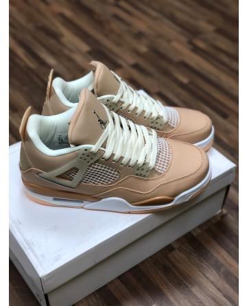 Air Jordan 4 AJ 4 Low Basketball Shoes with Khaki Upper