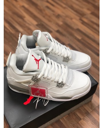 Air Jordan AJ4 Men Running Shoes Low White Upper
