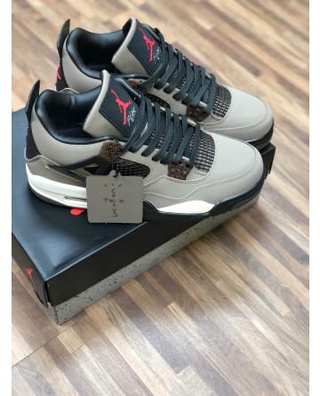 Air Jordan AJ 4 Basketball Shoes Low Sneakers Gray Upper
