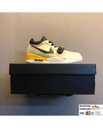 Nike Air Jordan Legacy 312 Low Men's Shoes White & Yellow