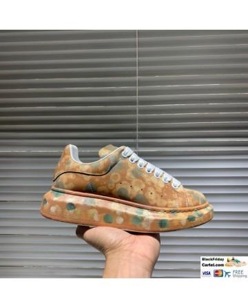 Alexander McQueen Brown Printing Low-top Shoes