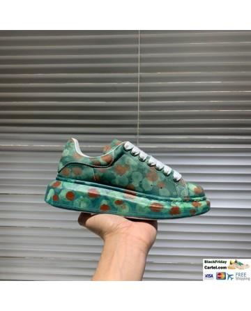 Alexander McQueen Green Printing Low-top Shoes
