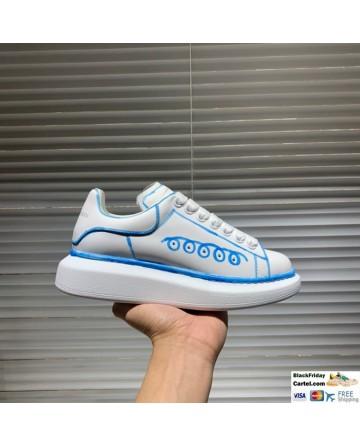 Alexander McQueen White & Blue Running Shoes