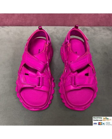 Balenciaga 2020 SS Sport Sandals In Rose Red