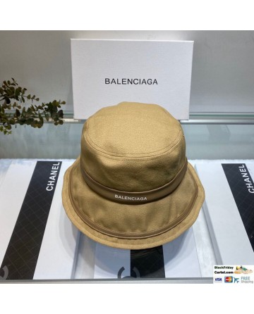 Balenciaga Camel Bucket Hat Cotton Fisherman Cap