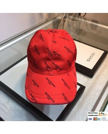 Balenciaga Red Baseball Hat Full Balenciaga Markers Cap