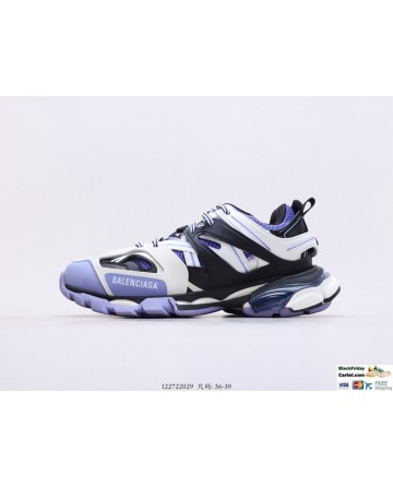 Balenciaga Track 3.0 Triple White & Purple & Black Shoes