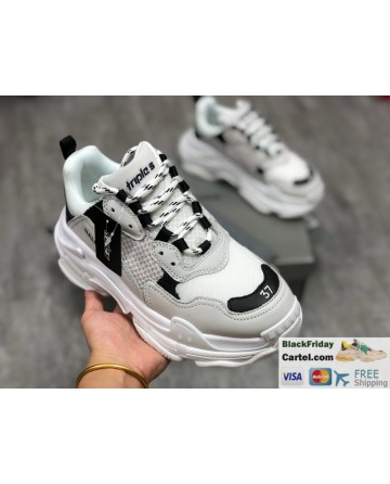 Balenciaga Triple-s Vintage Grey Casual Running Shoes