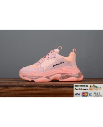 Balenciaga Triple S 2019ss Vintage Daddy Shoes Pink