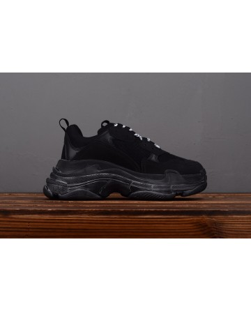 Balenciaga Triple S Vintage TPU Sports Shoes Black Running Shoes