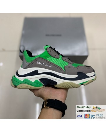 Balenciaga Triple S Vintage TPU Sports Shoes Green