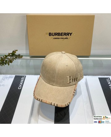 Burberry Khaki Cotton Baseball Cap One Size - Adjustable