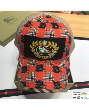 Cool Style Burberry War Horse Red Hat