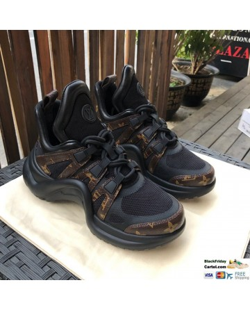 Cool Style Louis Vuitton Archlight Black Sneaker Shoes