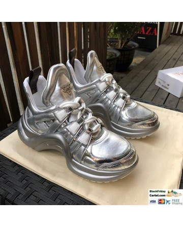 Cool Style Louis Vuitton Archlight Silver Sneaker Shoes