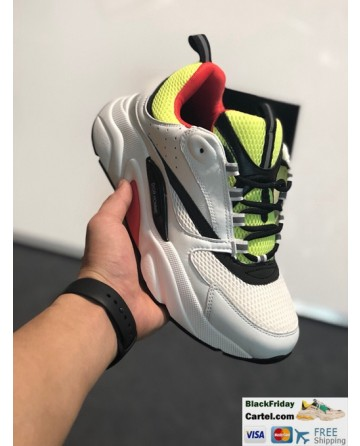 Dior Chunky Sneaker White & Green Retro Dad Shoes