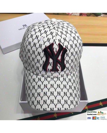 Fashionable NY White Baseball Cap With Full NY Logo