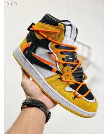 Futura x Off-White x Nike SB Dunk Low Orange Black Sneaker