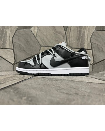Futura x OFF White x Nike SB Dunk Caasual Shoes Grey Black Surface