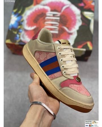 Gucci Low Top Screener GG Sneakers In Beige