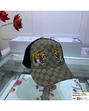 Gucci Printed Baseball Cap With Tiger Head