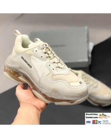 High Quality Balenciaga Triple S Champagne Sneakers