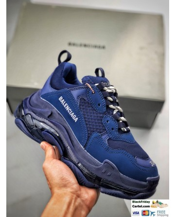 High Quality Balenciaga Triple S Sneakers Blue Online