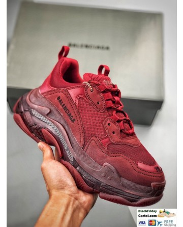 High Quality Balenciaga Triple S Sneakers Red Online
