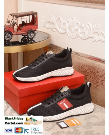 High Quality BALLY 2019 New British Style Men'S Black Casual Sports Shoes