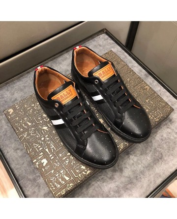 Hight Quality BALLY 2019 New  Men's Black Casual Shoes
