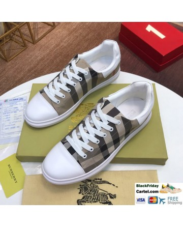 High Quality Burberry 2019 Explosion Models Khaki Casual Men's Shoes