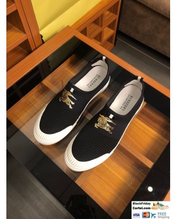 High Quality Burberry 2019 New Black  Men's Lazy Shoes