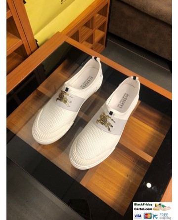 High Quality Burberry 2019 New White Men's Lazy Shoes
