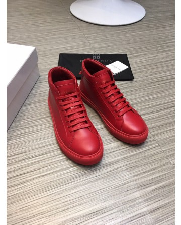 High Quality Givenchy 2019 New Red High top Casual Men's Shoes