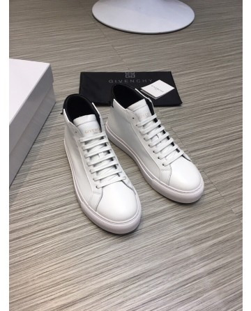 High Quality Givenchy 2019 New White High top Casual Men's Shoes