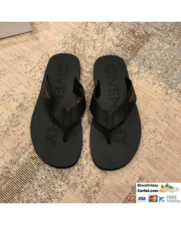 High Quality Givenchy 2019 Spring And Summer New Black Men's Flip-flops