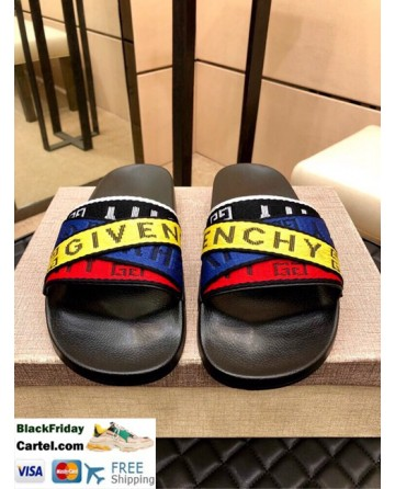 High Quality Givenchy 2019 Men'S Blue&Yellow Sandals