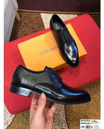 High Quality Louis Vuitton 2019 Black Men's Dress Shoes