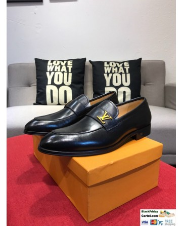 High Quality Louis Vuitton 2019 Black Men's Business Shoes