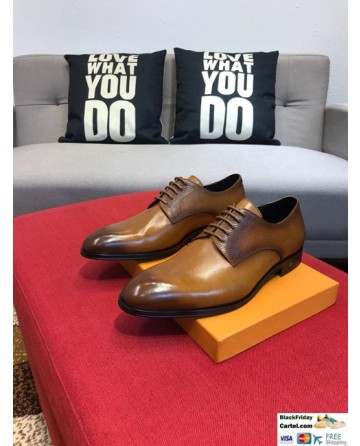 High Quality Louis Vuitton 2019 Brown Men's Dress Shoes