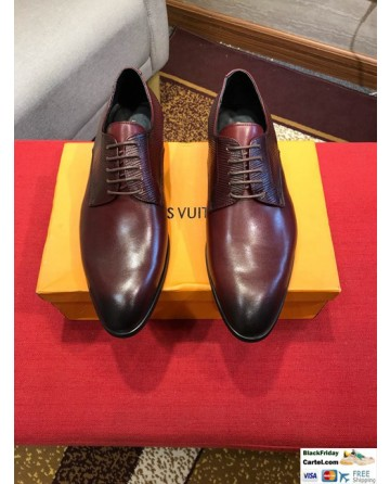 High Quality Louis Vuitton 2019 Wine Red  Men's Dress Shoes
