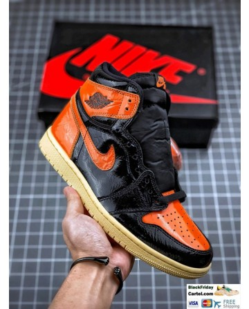 High Quality Nike Air Jordan 1 Retro High Sneakers Black & Orange