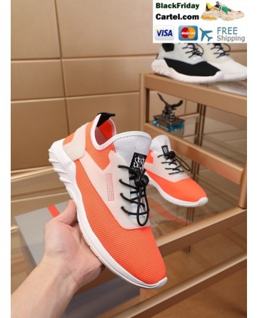 High Quality Prada 2019 New Classic Orange Sports Men's Shoes