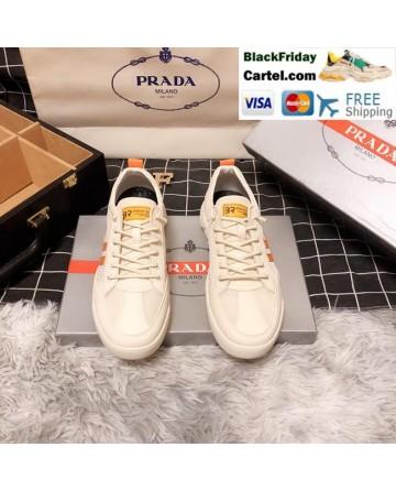 High Quality Prada 2019 New Orange Casual Men's Shoes
