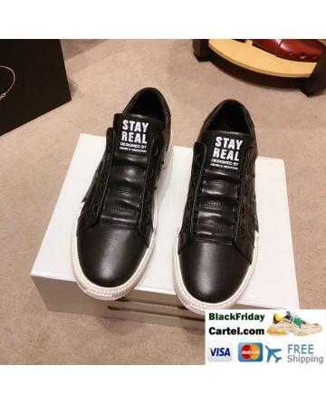 High Quality Prada 2019 Spring New Black Casual Men's Shoes