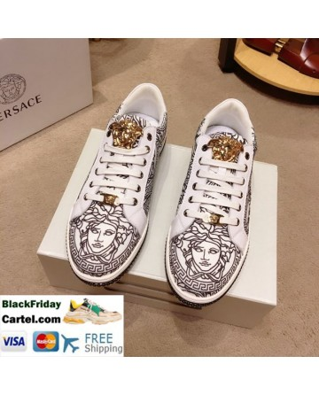 High Quality Versace 2019 New Men's Brown Fashion Casual Shoes