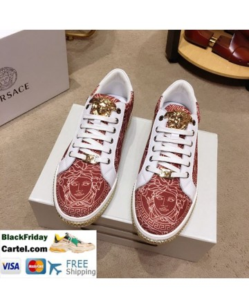 High Quality Versace 2019 New Men's Date Red Fashion Casual Shoes