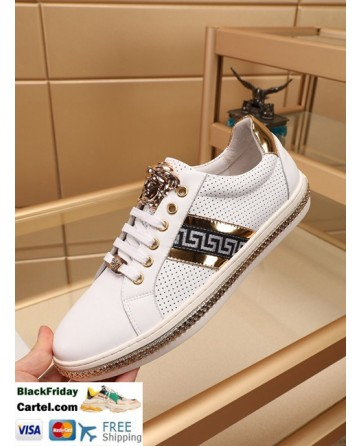 High Quality Versace 2019 New Men's White Casual Shoes