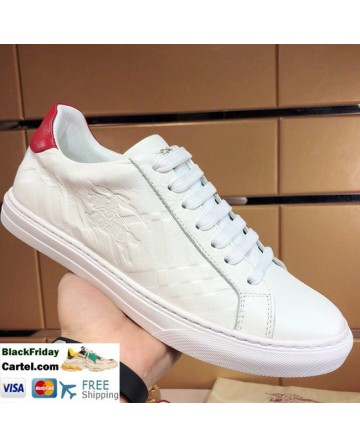 Hight Quality Burberry Classic Riding Series White&Red Casual Shoes